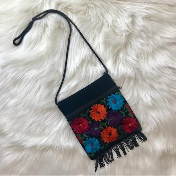 Handbags - Black velvet floral purse. OS